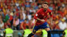 Sergio Ramos, jugador de la Selección Española de Fútbol (Foto. Getty)