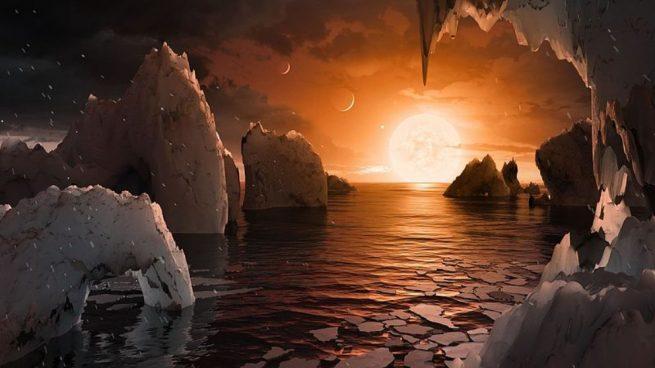 Agua en el Sistema TRAPPIST