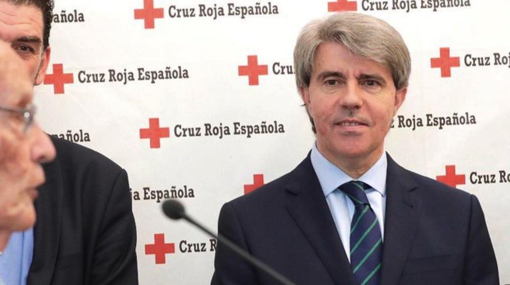 Ángel Garrido visitando este miércoles una sede de Cruz Roja. (Foto. CM)