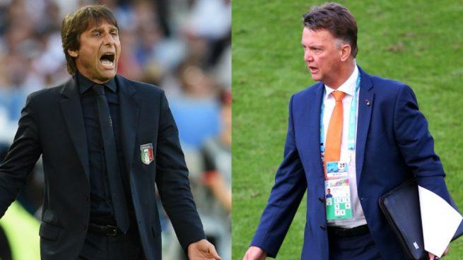 Conte y Van Gaal también dieron la espantada de su selección antes de un gran campeonato
