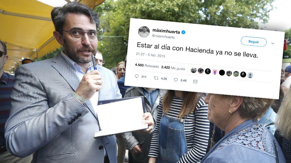 El tuit del ministro de Cultura y Deporte, Màxim Huerta, que se le está volviendo en contra