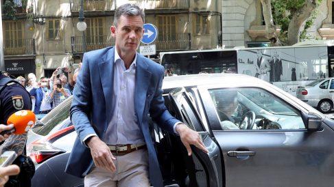 Iñaki Urdangarin ante la Audiencia de Palma. (Foto: EFE)