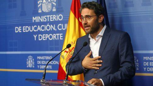 El ex ministro Maxim Huerta, el día que dimitió como titular de Cultura.