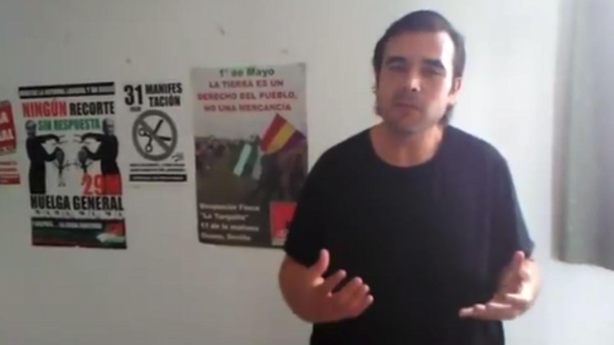 El sindicalista Óscar Reina, conocido como 'El Pancetas', detenido por injurias a la Corona (RRSS).