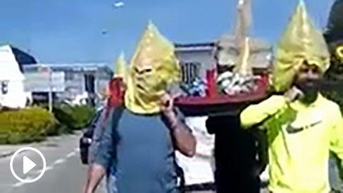 Procesión independentista en apoyo a los políticos presos en Termens (Lérida).