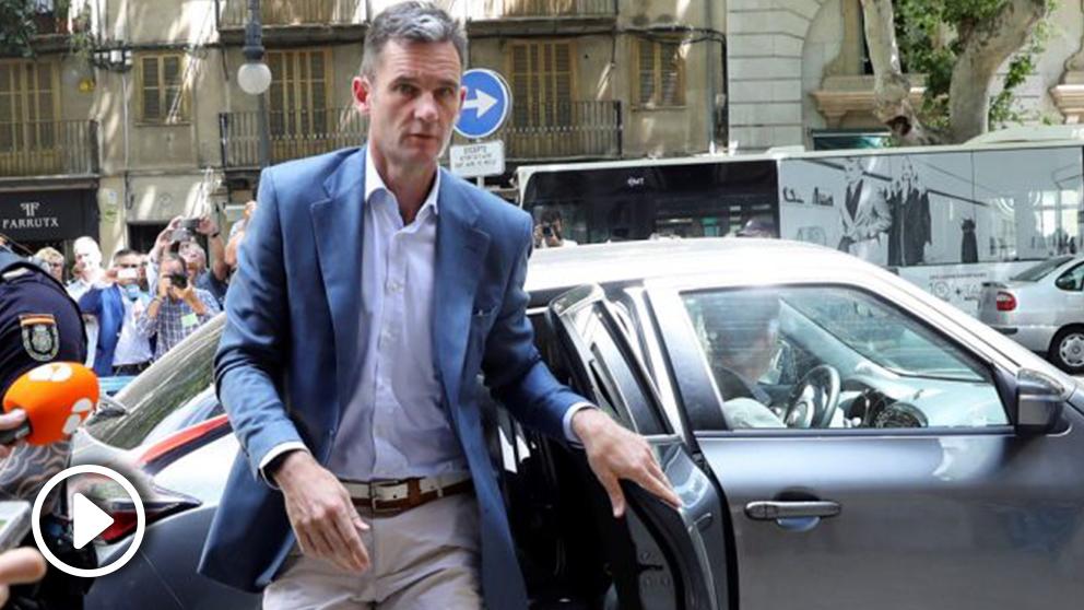 Iñaki Urdangarin ante la Audiencia de Palma. (Foto: EFE).
