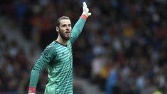 De Gea, durante un partido con la selección española. (AFP)