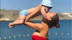 Aurah Ruiz y su hijo Nyan.
