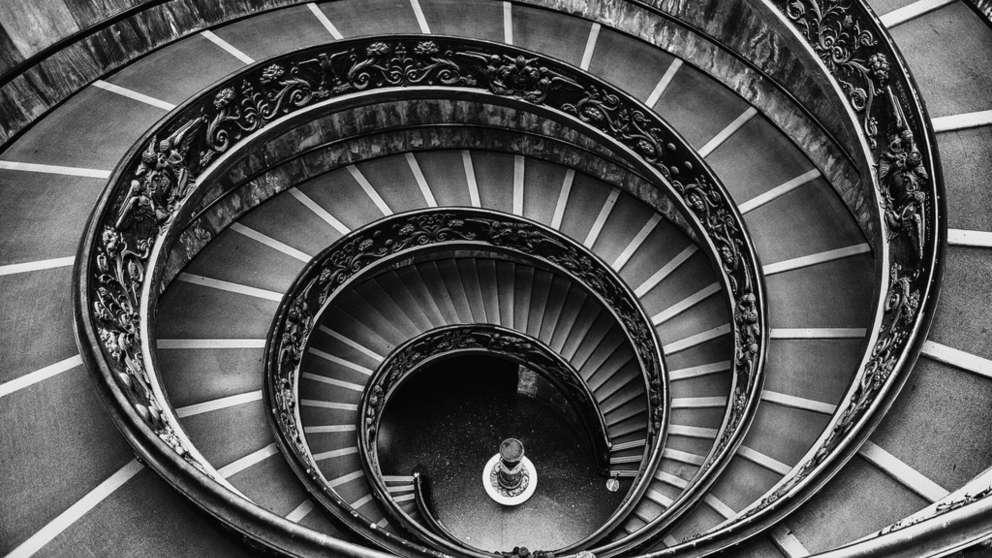 Escaleras de Bramante: el secreto matemático que esconden