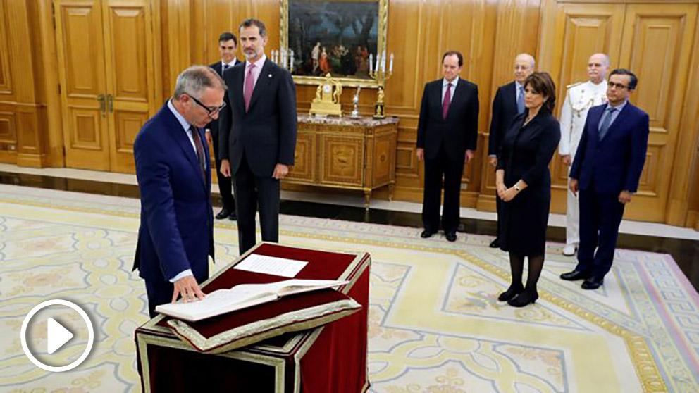José Guirao promete el cargo como ministro de Cultura y Deporte. (Foto: EFE)