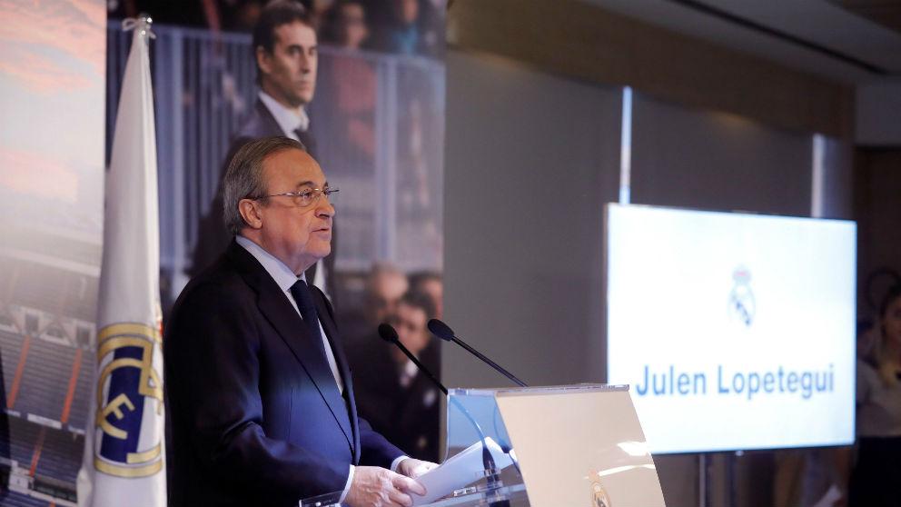 Florentino Pérez durante la presentación de Florentino Pérez. (EFE)
