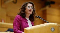 La ministra de Hacienda, María Jesús Montero, en el Senado. / Foto: EFE