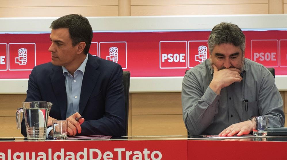 Pedro Sánchez y José Manuel Rodríguez Uribes. (Foto. PSOE)
