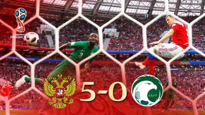 Rusia – Arabia Saudí: Manita rusa en el estreno del Mundial (5-0)