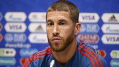 Sergio Ramos comparece en la previa del debut de España en el Mundial. (AFP)