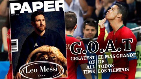 Cristiano Ronaldo desafió a Messi con una celebración dirigida a él.
