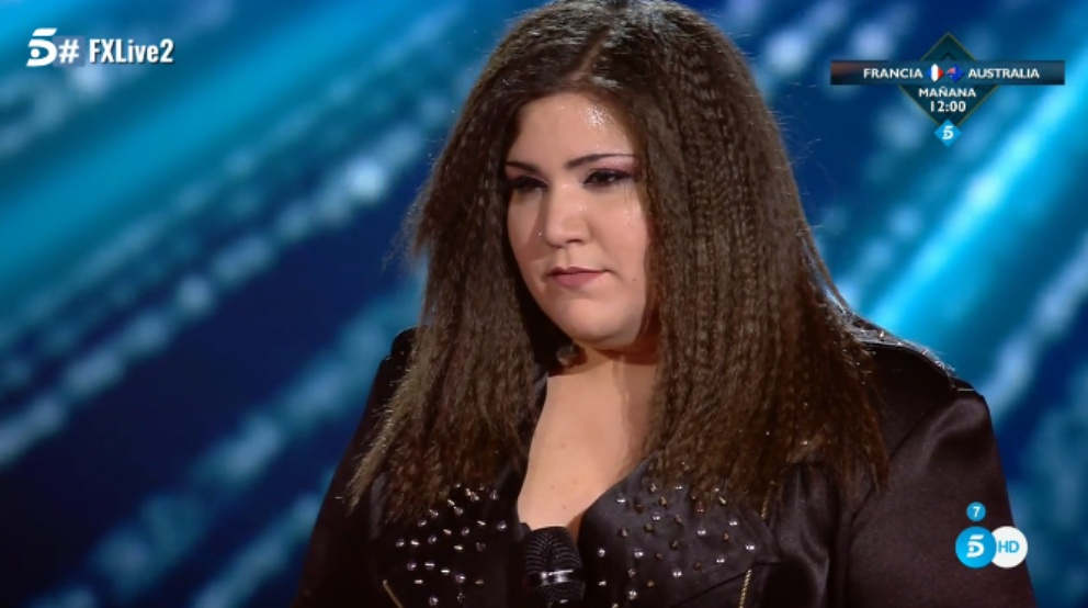 Gema después de su actuación en 'Factor X'