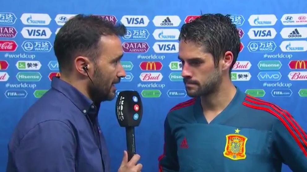 Juanma Castaño entrevista a Isco en el último Mundial de Rusia.