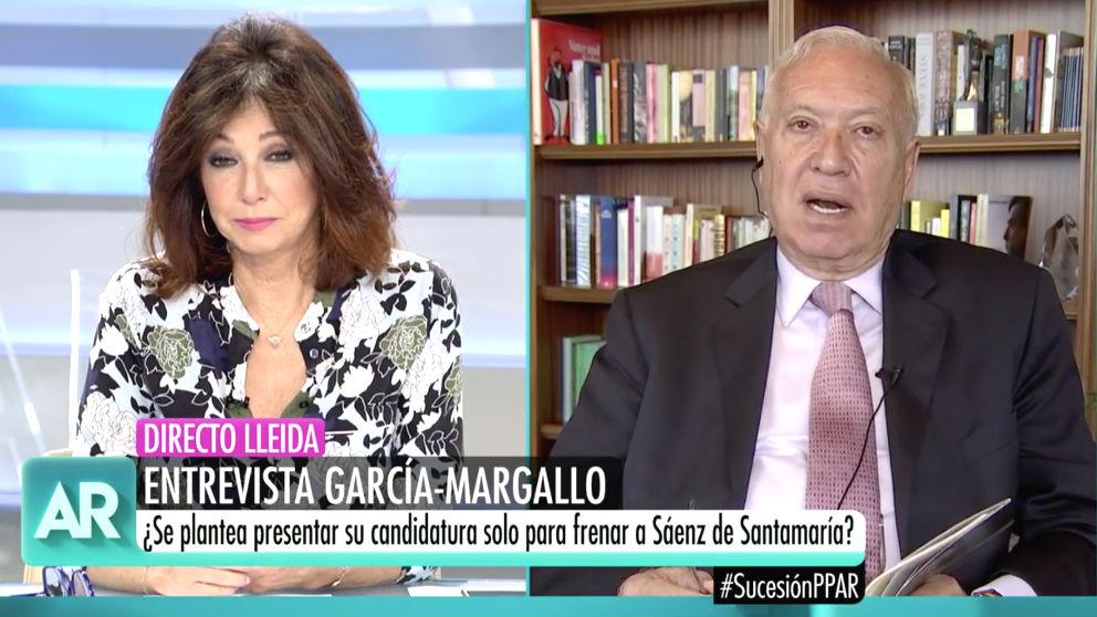 El ex ministro de exteriores, José Manuel García-Margallo, en 'El programa de Ana Rosa'