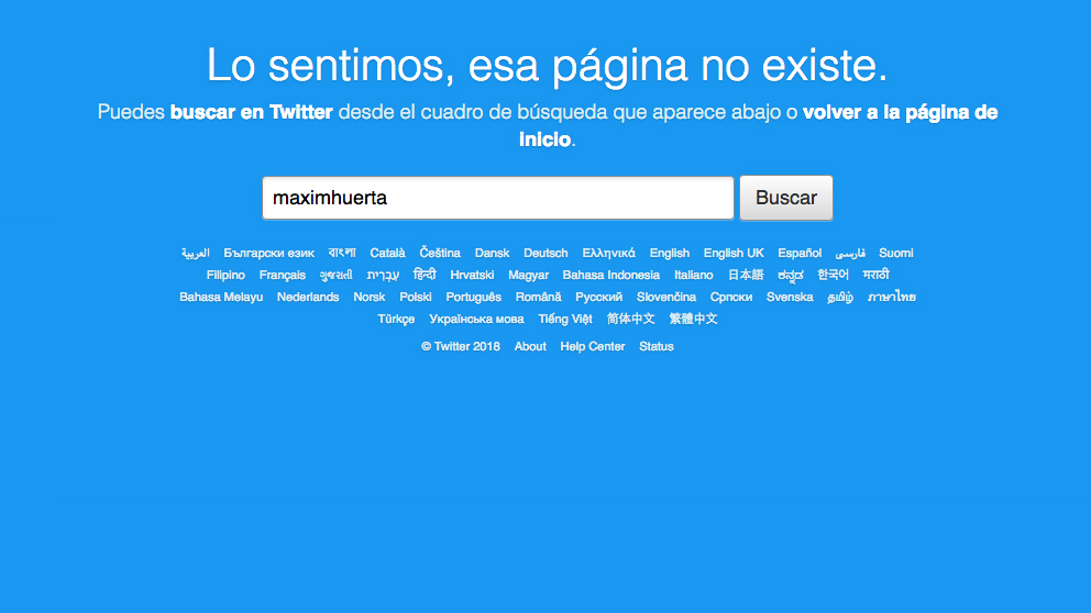 Màxim Huerta cierra su cuenta en Twitter.