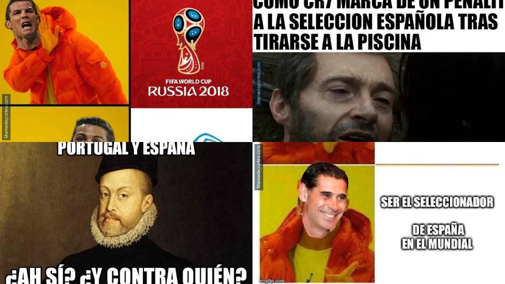 Los mejores memes del Portugal – España.