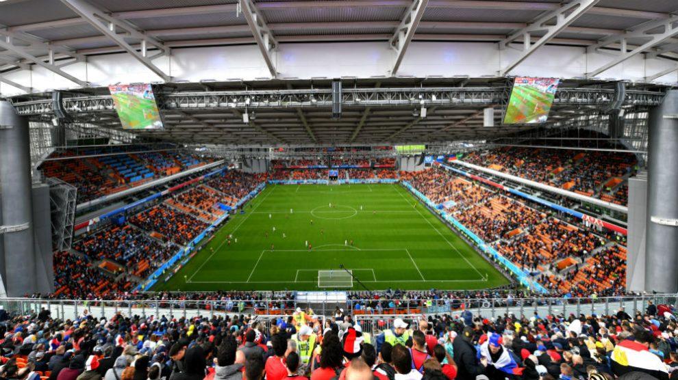 Imagen del estadio Central de Ekaterimburgo. (AFP)