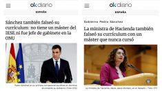 Las dos exclusivas de OKDIARIO