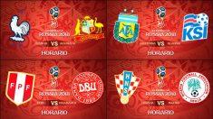 Calendario Mundial de Rusia 2018 | Partidos de Fútbol hoy | Horarios y dónde ver el Mundial