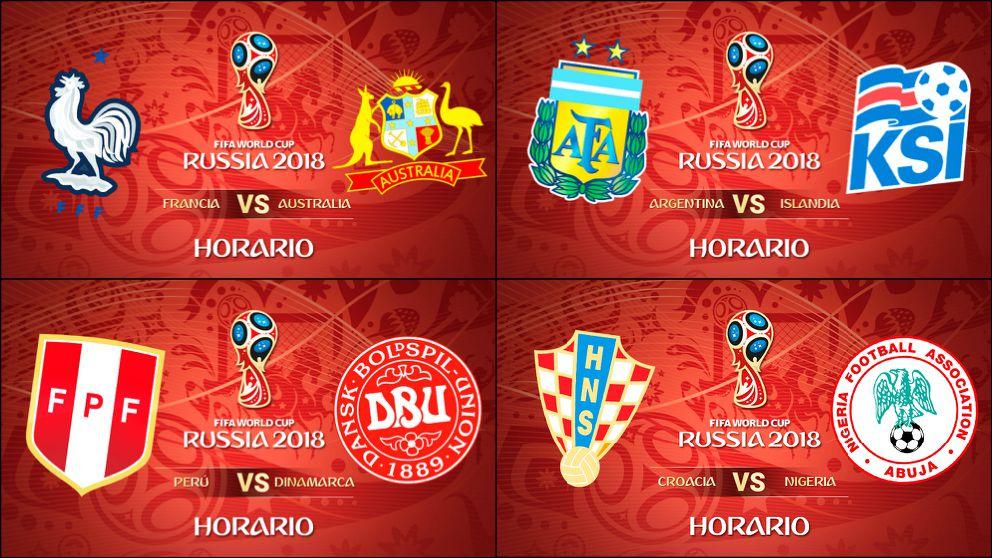 Calendario Mundial de Rusia 2018   Partidos de Fútbol hoy   Horarios y dónde ver el Mundial