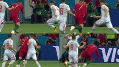 Secuencia del penalti dudoso de Nacho Fernández a Cristiano Ronaldo.