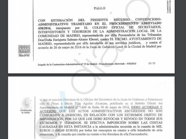 """Una juez condena a Carmena por uno de sus 'dedazos': """"Debió convocar un concurso abierto"""""""