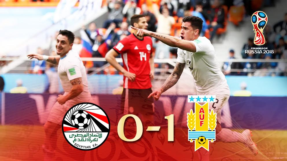 Giménez celebra su gol ante Egipto.