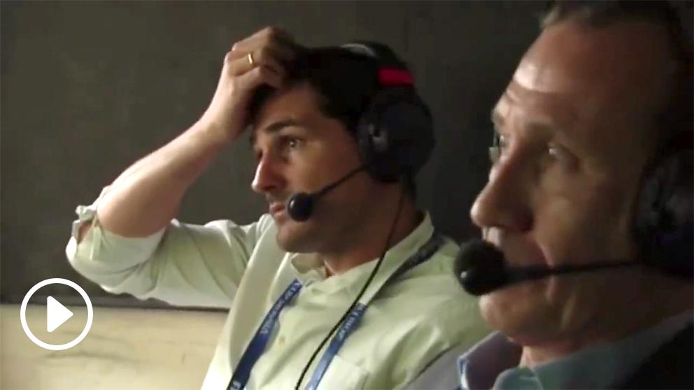 Iker Casillas lo pasó mal con el error de David De Gea.