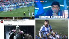 Los memes se mofan de Messi por fallar un penalti y del pinchazo de Argentina.