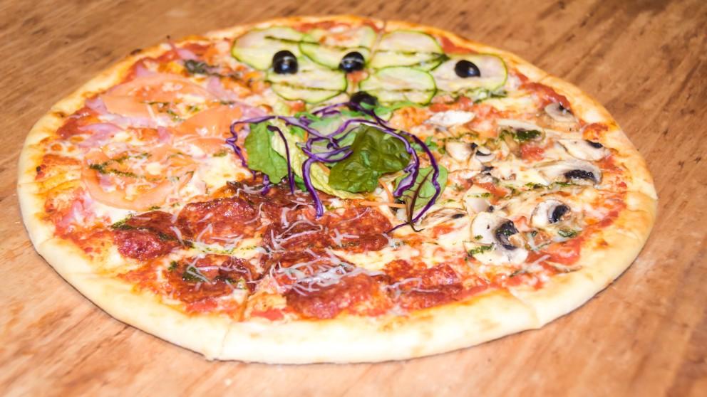 Receta de Pizza cuatro estaciones fácil de preparar