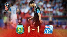 Argentina empató con Islandia en su debut en el Mundial 2018.