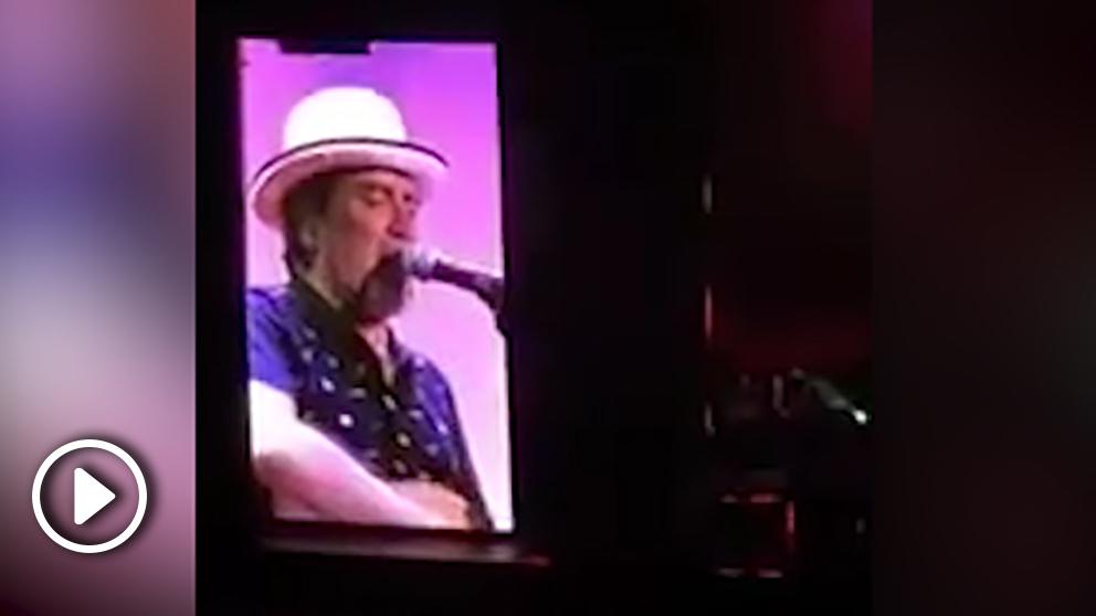 Joaquín Sabina, de concierto en el WiZink Center de Madrid.
