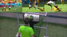 El árbitro señaló penalti a favor de Francia tras verlo en el VAR.