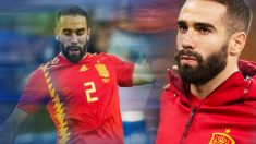 Dani Carvajal regresa a los terrenos de juego tras cuatro semanas de baja. | Mundial 2018: España – Irán