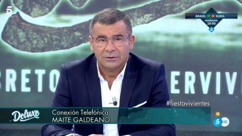 Jorge Javier y Maite en 'Sálvame Deluxe'