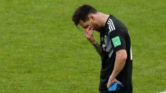 Leo Messi falló un penalti contra Islandia. (Getty)