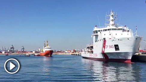 Llegada del Aquarius con 106 inmigrantes a bordo al Puerto de Valencia