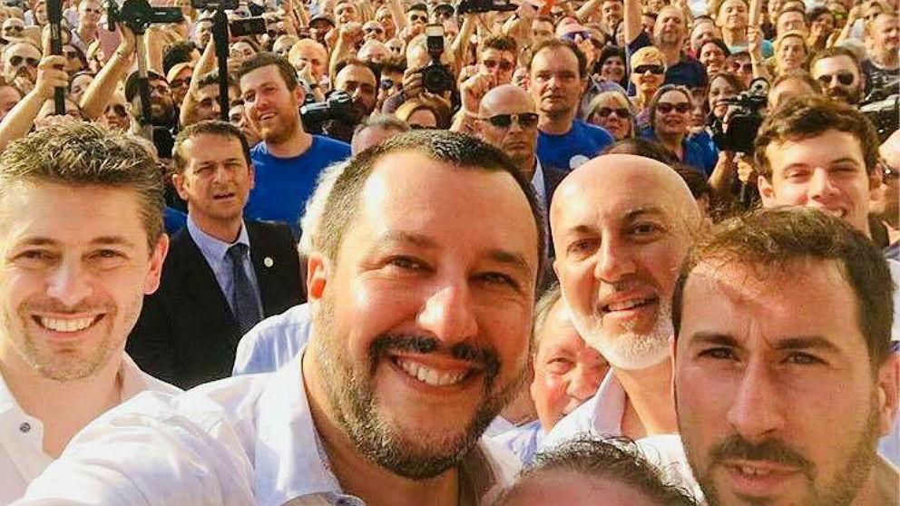 El ministro del Interior italiano y líder de la Liga, Matteo Salvini.