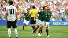 Hirving Lozano celebra su gol ante Alemania | Mundial 2018. (Getty)