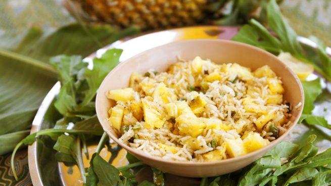 Receta de ensalada de arroz con pi a f cil de preparar - Ensalada de arroz light ...