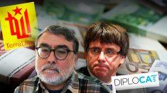 El terrorista de EPOCA y Terra Lliure Carles Sastre, y el ex presidente de la Generalitat Carles Puigdemont.