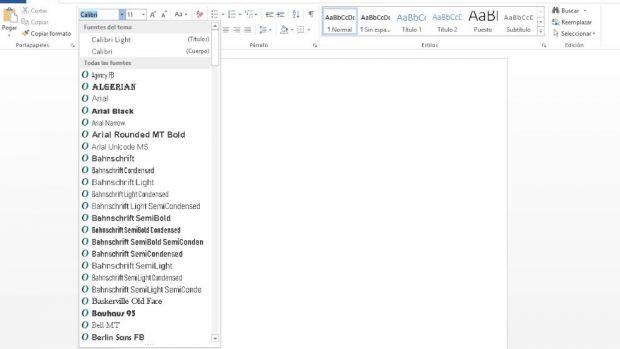 Añadir fuentes en Word