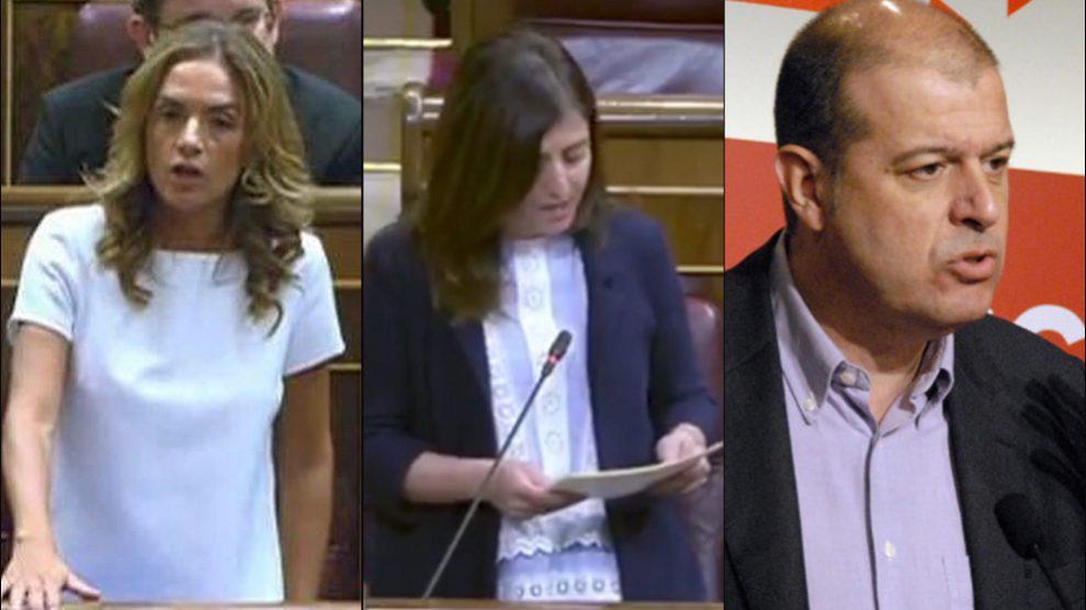 Los diputados Sumelzo, Peña y Zaragoza.