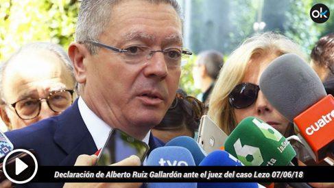 Declaración de Alberto Ruiz Gallardón ante el juez del caso Lezo (7-6-18).