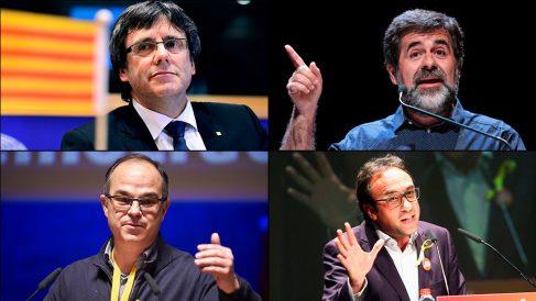 Carles Puigdemont, Jordi Sànchez, Jordi Turull y Josep Rull